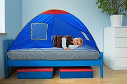 GigaTent Kids Blue Twin Sleep Tent – Use On Top or Off Bed