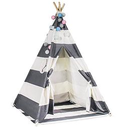 Touch-Rich 6FT Durable Teepee for Kids, Indian Play Tent, St