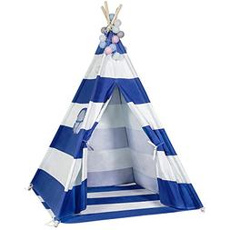 6FT Durable Teepee for Kids, Indian Play Tent, Sturdy & Safe