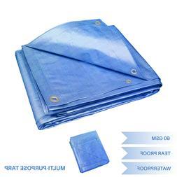 EK Blue Multi-purpose Waterproof Poly Tarp Cover Tent Shelte