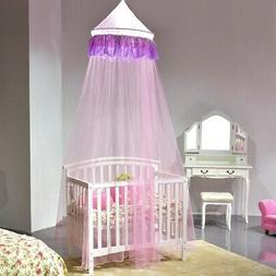 Elegant Princess Lace Netting Mesh Round Dome Bed Mosquito B