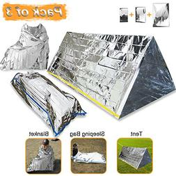 EMDMAK Emergency Mylar Thermal Survival Tent,Sleeping Bag Su