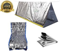 Sportsman Emergency Tent and Sleeping Bag Kit. This Mylar Re