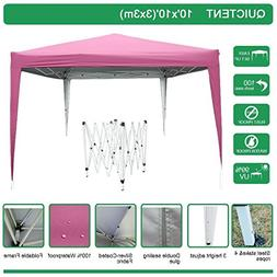 Quictent 10x10 EZ Pop Up Canopy Tent Instant Folding Party T