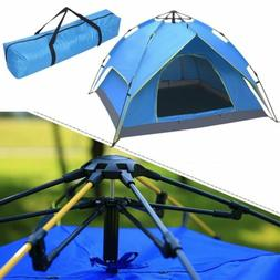 Outdoor 3-4 Person Camping Tent 210T Waterproof Double-layer