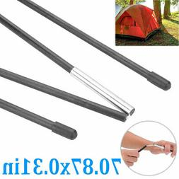 Heavy Duty Fiberglass Tent Pole Bars Double Tent Support Rod