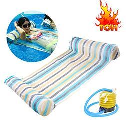 Swim Float Mat - Inflatable Floating Bed Large Floating Mat