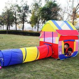 Foldable Children Kids Ball Play Tents House Tunnels Playhut