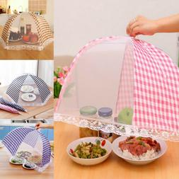 Foldable Kitchen Food Cover Tent Umbrella Camp Mesh Mosquito