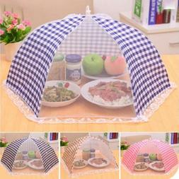 Foldable Kitchen Food Cover Tent Umbrella Camp Mesh Net Clas