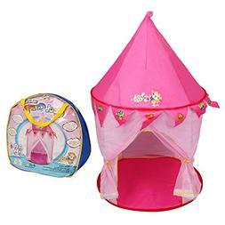 COSTWAY Foldable Princess Kids Play Tent SpiritOne