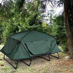 folding 2 person elevated camping tent cot