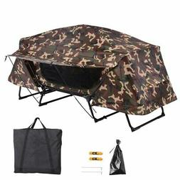 Folding Single Camping Tent Cot Portable Outdoor Hiking Bed