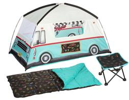 Food Truck Tent Chair & Sleeping Bag Camping Combo New Fast