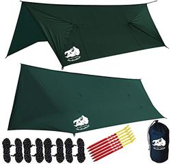 Chill Gorilla Fortress 2 Hammock Rain Fly with 4 Doors. Tent