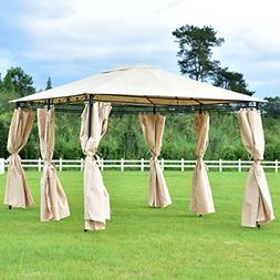 New MTN-G 10'x13' Gazebo Canopy Shelter Patio Party Tent