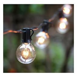 50Ft G40 Globe String Lights with 50 Clear Bulbs for Indoor/