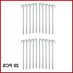 Galvanized Heavy Duty Steel Tent Pegs Garden Stakes For Outd