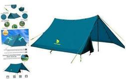 GEERTOP 2-3 Person Lightweight Trekking Pole Tent Waterproof