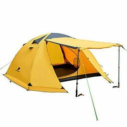 Geertop Portable 4 Person 4 Seasons Backpacking Tent Double