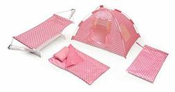 Badger Basket Doll Tent, Hammock, Sleeping Bag, and Pillow G