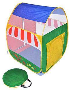 Green Garden Twist Ball Tent for Kids w/ Safety Meshing for