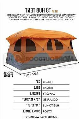 GT800SS THE NEW HUGE GAZELLE T8 HUB TENT 2 ROOM CAMPING FAMI
