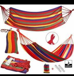 Hammock Bed Swing Hanging Sleeping Tent Outdoor Double Cotto