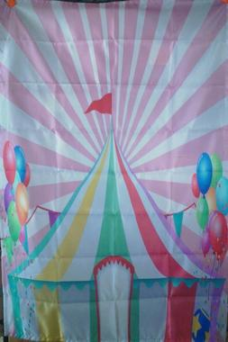 AMBESONNE HANGING TAPESTRY HOUSE DECOR CIRCUS TENT PINK WHIT