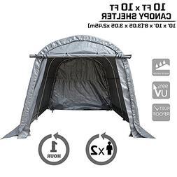 kdgarden Heavy Duty Canopy Storage Shelter 10' x 10' Portabl