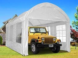 Quictent 20x10 Heavy Duty Portable Carport Canopy Garage Car