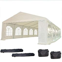 32'x16' PE Party Tent White - Heavy Duty Wedding Canopy Carp