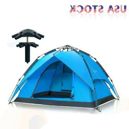 Hydraulic Self Pop Up Double Layer Camping Tent 3-4 Person W