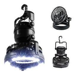 Portable LED Camping Lantern with Ceiling Fan, Outdoor Campi