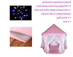 Do4U Large Indoor and Outdoor Kids Play House Pink Hexagon P