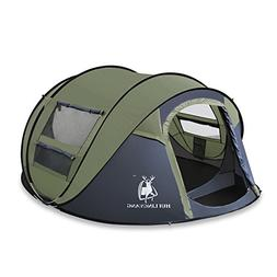 HUI LINGYANG Outdoor Instant 4-Person Pop Up Dome Tent - Eas