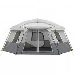 Instant Cabin Tent 11 Person Hexagon Camping Outdoors Family