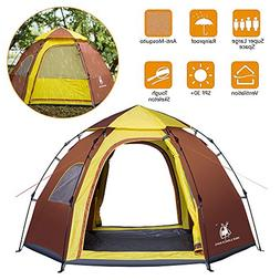 Rxlife Instant Camping Tent 3-4 Person Large Automatic Pop U