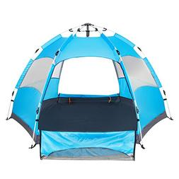 Lw Instant Family Tent 3-5 Person Portable 3 Season Canopy T