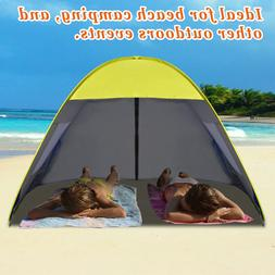 Instant Pop Up Canopy Family Sports Beach Tent Sun Shelter