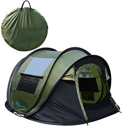 PeakTop Instant Tent 4 Person Automatic Pop up Camping Tent,