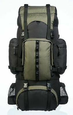 AmazonBasics Internal Frame Hiking Backpack with Rainfly 65