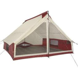Wenzel Ivanhoe 6-Person Red Plaid Tribute Tent, 90 sq. ft, 7