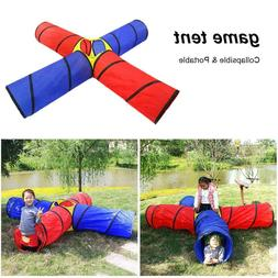 Kids 4-way Play Tunnel Tent Children Pop-up Adventure Tube P