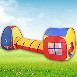 Wakrays Fashion Kids Baby Indoor Outdoor Tunnel Tents Play C