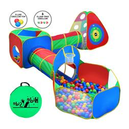 Kids Ball Pit Tents and Tunnels, Toddler Jungle Gym Play Ten