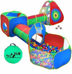 Kids Ball Pit Tents and Tunnels Toddler Jungle Gym Play Tent