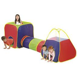 Kids Big Play Tent With Tunnel Large Colorful Playing Tent -
