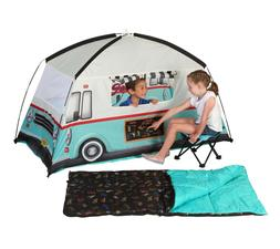 Kids Camping 4 Piece Combo Food Truck Tent, Sleeping Bag, St