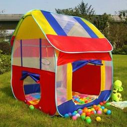 Kids Play Tent Tunnel House In/Outdoor Portable Foldable Chi